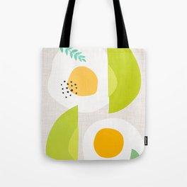 Minimalist Avocado and Eggs Tote Bag