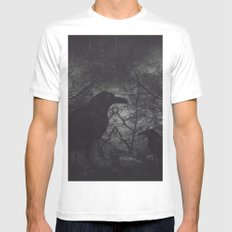 Theres someone at the door Mens Fitted Tee MEDIUM White