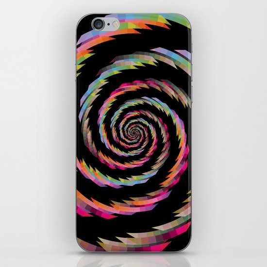 Colour Mix Spiral #2 iPhone Skin