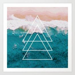 Beach Arrow / Geometric Art Print