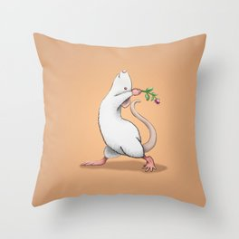 Yoga Rat, Day 6 Throw Pillow