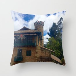Mount Monserrate at Christmastime Maybe, Bogota, Colombia Throw Pillow
