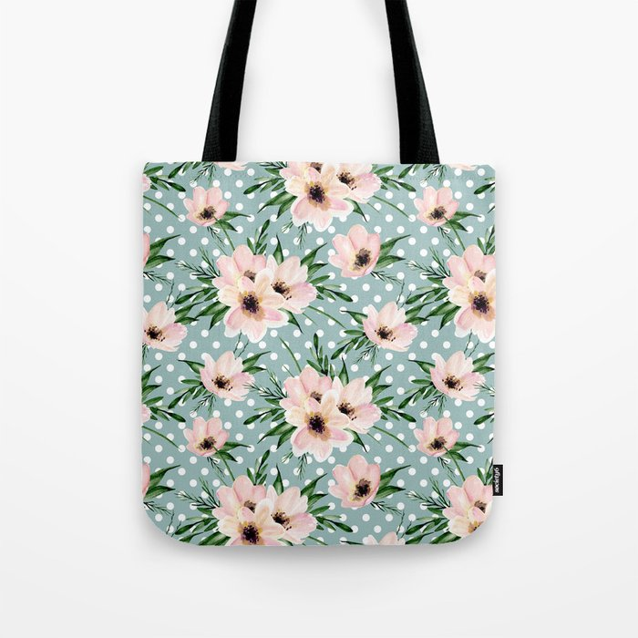 Vintage pattern. Watercolor flowers Tote Bag