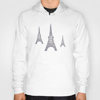 paris Hoodies featuring Paris by sinonelineman