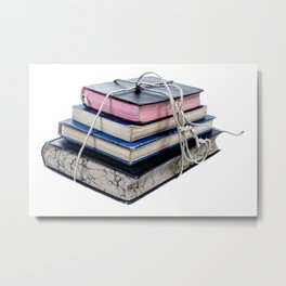 Book Worm Metal Print