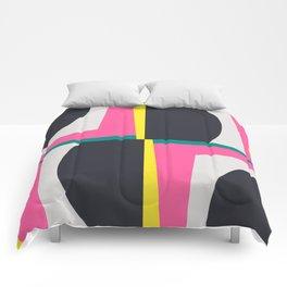 Modern Geometric 65 Pink Comforters