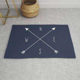 Navy Compass Rug