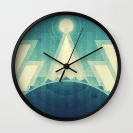 Earth - The Polar Caps Wall Clock