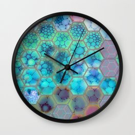 Onion cell hexagons Wall Clock