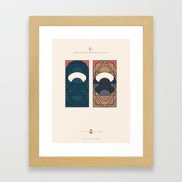 LE VOILE & LA BARBE - Musulmans fondamentalistes - Femme & Homme Framed Art Print