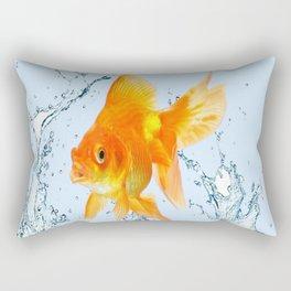 JUMPING  GOLDFISH SPLASHING  WATER ART Rectangular Pillow