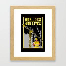 Operator Tower Cranes Framed Art Print