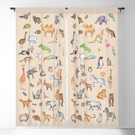 World animals Blackout Curtain