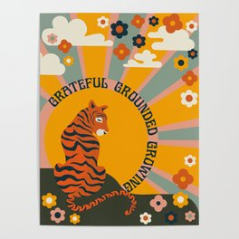GRATEFUL GROUNDED GROWING Poster