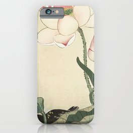 Gallinule with Lotus Flowers (1900 - 1930) by Ohara Koson (1877-1945) iPhone Case