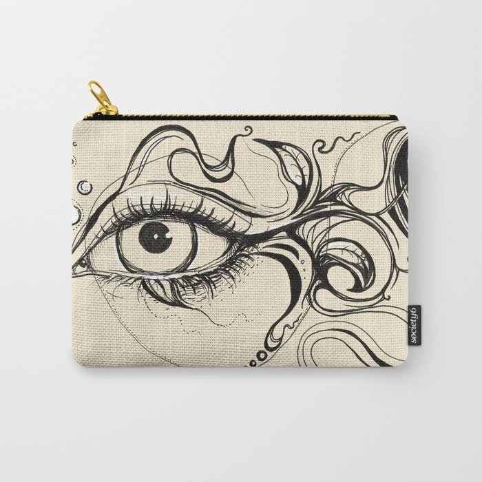 Eye Fish Doodle Carry-All Pouch