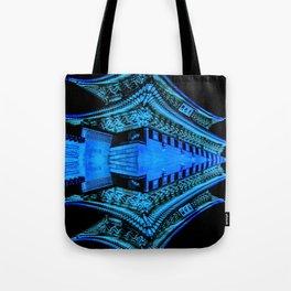 Abstract Blue and Black Art, Gyeongbokgung Palace, Seoul, Korea, Oriental Tote Bag
