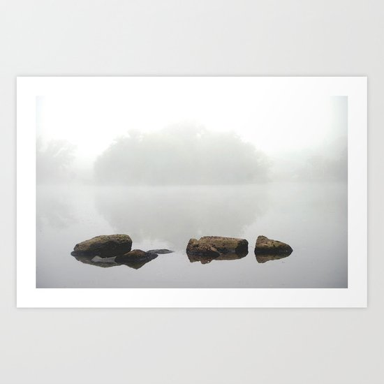 Mist in the morning.......... Art Print