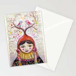 Birds and thoughts and love and magic Stationery Cards