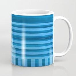Art Deco Geometric Pattern Blue Coffee Mug