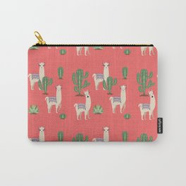 Llama with Cacti Carry-All Pouch