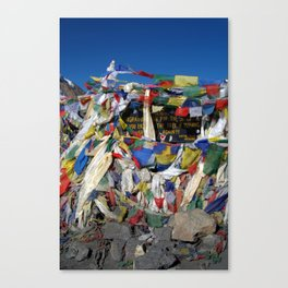 Prayer Flags top of Thorung La Canvas Print