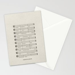 Everybody, let's rock Stationery Cards