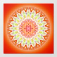 health Canvas Prints featuring Mandala Health by Christine baessler