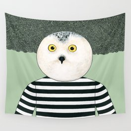 Black & White Owl Wall Tapestry