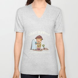 Schist Happens Metamorphically Speaking Illustration Unisex V-Neck