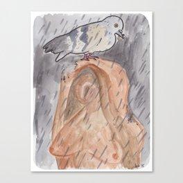 Portland Pigeon - Kvinneakt Canvas Print