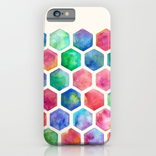 Hand Painted Watercolor Honeycomb Pattern iPhone & iPod Case