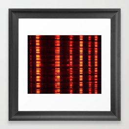 pillars of fire Framed Art Print
