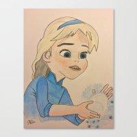 frozen elsa Canvas Prints featuring Elsa - Frozen by disney_dreamerz_