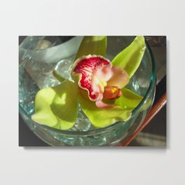 ROOM SERVICE ORCHID Metal Print