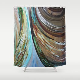 Peacock Trail Shower Curtain