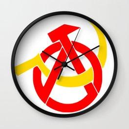 Anarcho-Communist Symbol Soviet USSRColors Wall Clock