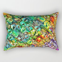Spectral 3D Abstract Rectangular Pillow
