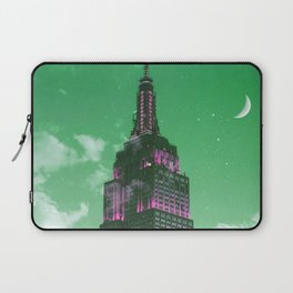Empire State Building New York City Skyline Green Tones Laptop Sleeve