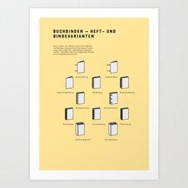 Buchbinden – Heft- und Bindevarianten Art Print