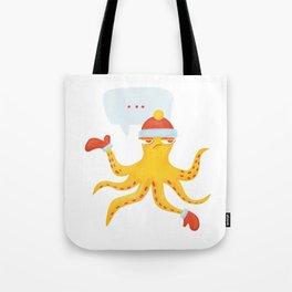 Grumpy Christmas Octopus Tote Bag