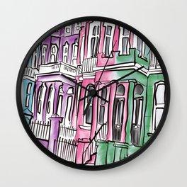 Nottinghill houses london  Wall Clock