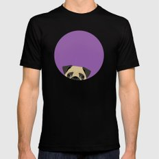 Pug Black Mens Fitted Tee SMALL