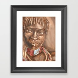 Hamer Girl Framed Art Print