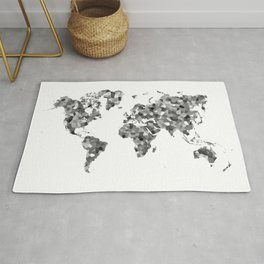 Low poly world map Rug