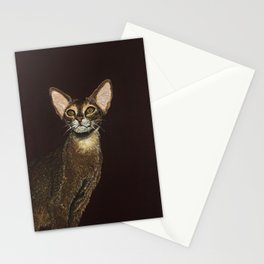 Abyssinian cat portrait Stationery Cards