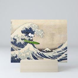 Dog in the sea Mini Art Print