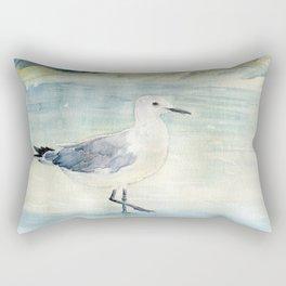 Seagull on the beach Rectangular Pillow
