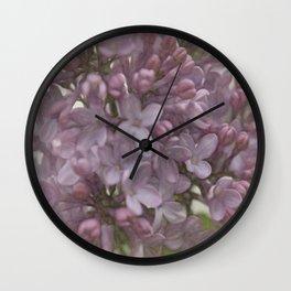 Lilac Dreams Wall Clock