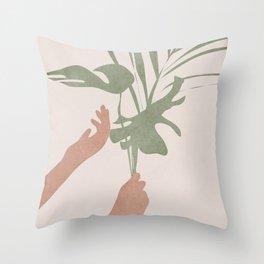 Leafs Throw Pillow